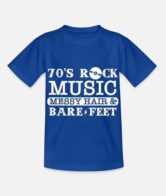 Hardrock T-Shirts - Rock Musik - Kinder T-Shirt Royalblau
