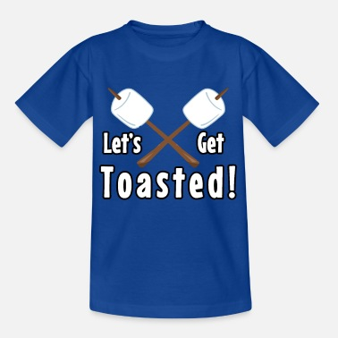 Camp-fire Let's Get Toasted Marshmallow Camping Design - Kids' T-Shirt