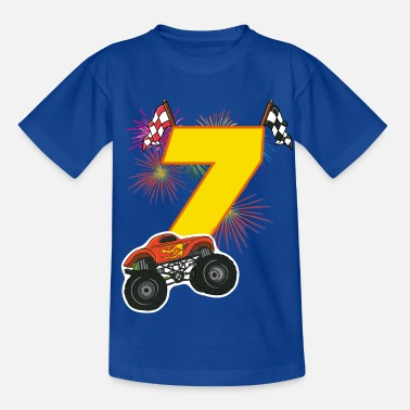 Monster Race Birthday 7 years Monster Truck, Car T-Shirt - Kids' T-Shirt