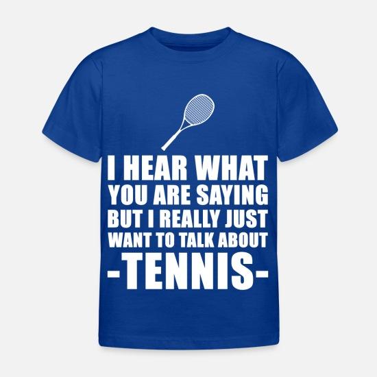 Je préfère jouer T-shirt pour enfant squash