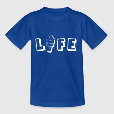 Life Funny Ice Cream Design Summer Delicious Gift - Kids' T-Shirt