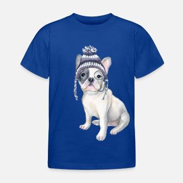 eb59837a Toque Frenchie French Bulldog Toque Beanie monocle Dogs - Kids' T-Shirt