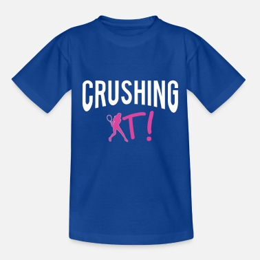Christian Clothes Awesome Crushing it Tennis design - Kids' T-Shirt