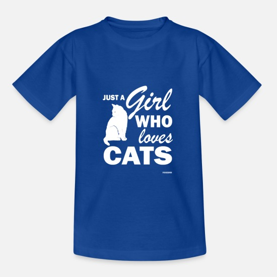 Bac T-shirts - Chat chat fille d'amour miaou chat cadeau - T-shirt Enfant bleu royal