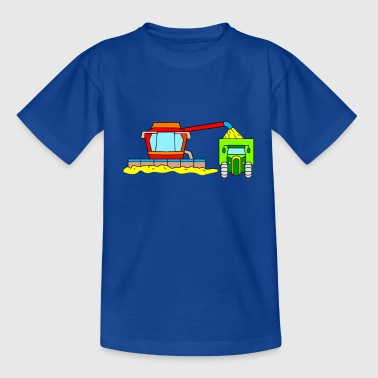 Combine harvester and tractor for children - Kids' T-Shirt