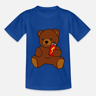 Teddy-Bär mit Energy Drink - Kinder T-Shirt