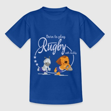born to play rugby - T-shirt Enfant
