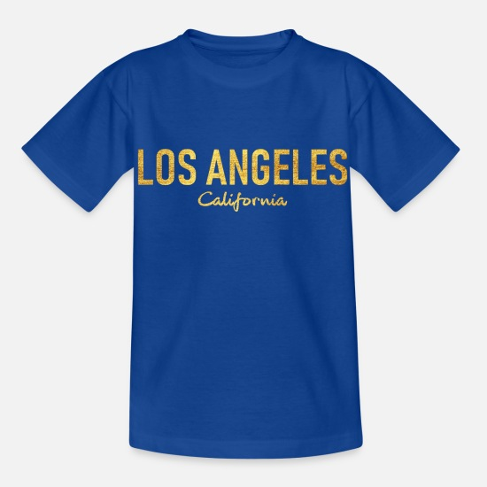 Usa T-Shirts - Los Angeles California - United States of America - Kinder T-Shirt Royalblau