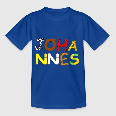 Name Johannes with animal letters - Kids' T-Shirt