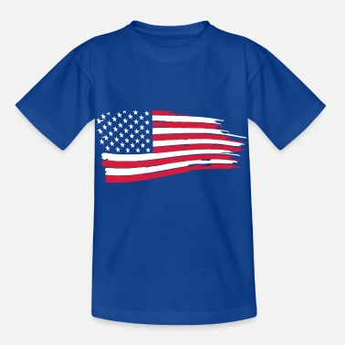 Bandera usa_flag_on_blue - T-shirt barn