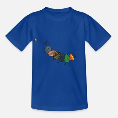Raupe bunte Raupe - Kinder T-Shirt