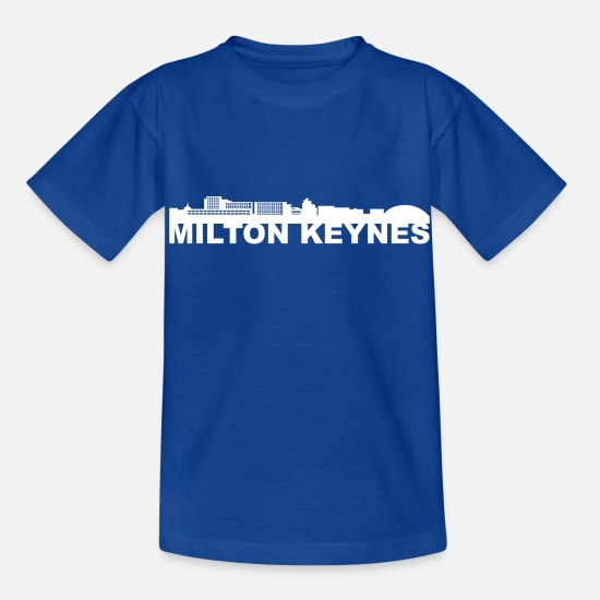 Jul T-shirts - Milton Keynes England Skyline Gift Idea UK - T-shirt til børn kongeblå
