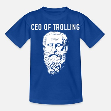 Trolling CEO Of Trolling Funny Philosopher Diogenes design - Kids' T-Shirt