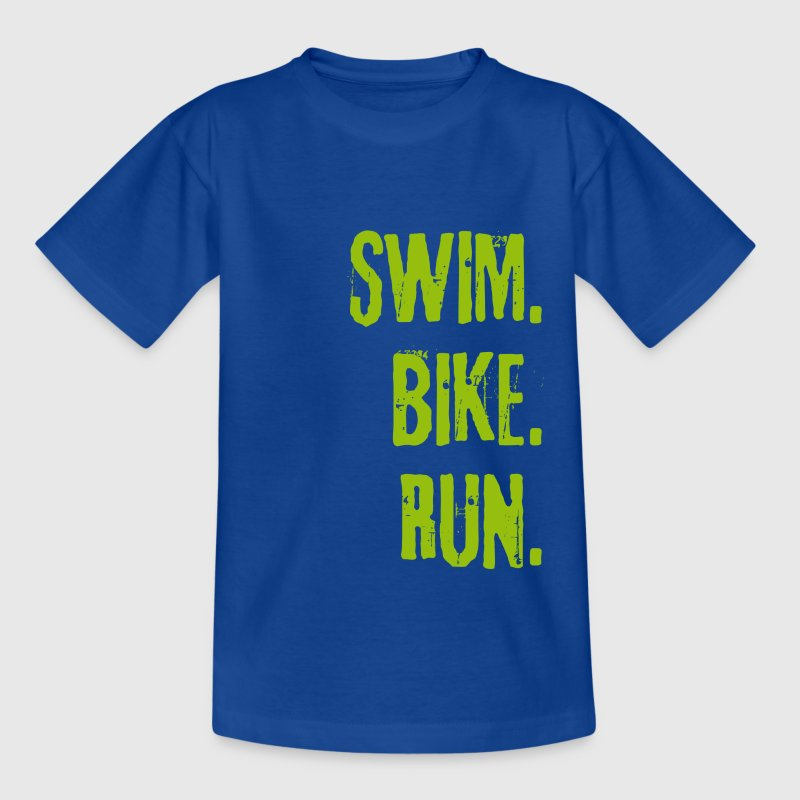SWIM BIKE RUN - Kinder T-Shirt