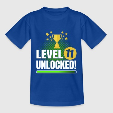 11th Birthday Gambler Gamer Level 11 Unlocked - Koszulka dziecięca