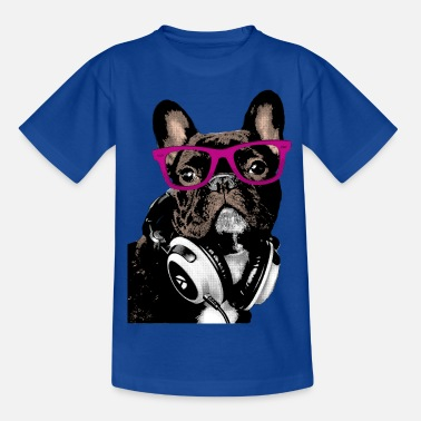 Dj AD Hipster Frenchie - Kids' T-Shirt