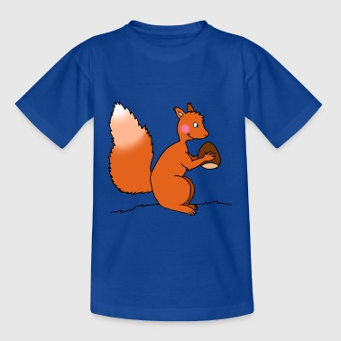 Squirrel with nut - Kids' T-Shirt