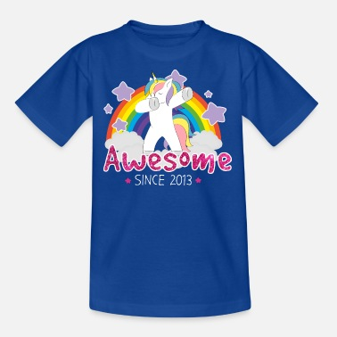Awesome Since Einhorn Awesome Since 2013 - Kinder T-Shirt