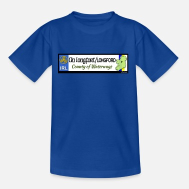 LONGFORD, IRELAND: licence plate tag style decal - Kids' T-Shirt