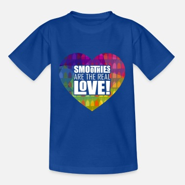 Smoothies are the real love funny vegan Shirt - Kinder T-Shirt