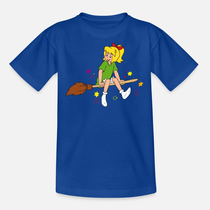 Officialbrands T-Shirts - Bibi Blocksberg T-Shirt für Kinder  - Kinder T-Shirt Royalblau