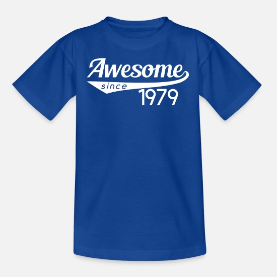 1979 T-Shirts - 1979 awesome - Kids' T-Shirt royal blue