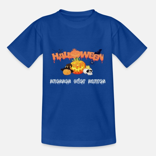Witches Broom T-Shirts - Halloween sweet or sour - Kids' T-Shirt royal blue