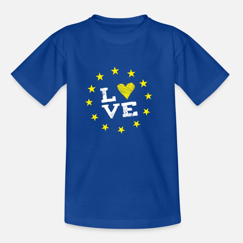 Brexit T-Shirts - love Europe EU star circle heart demo statement LO - Kids' T-Shirt royal blue