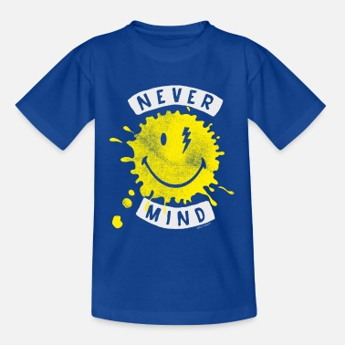 Emoji SmileyWorld Never Mind Splash Smiley - Kinder T-Shirt
