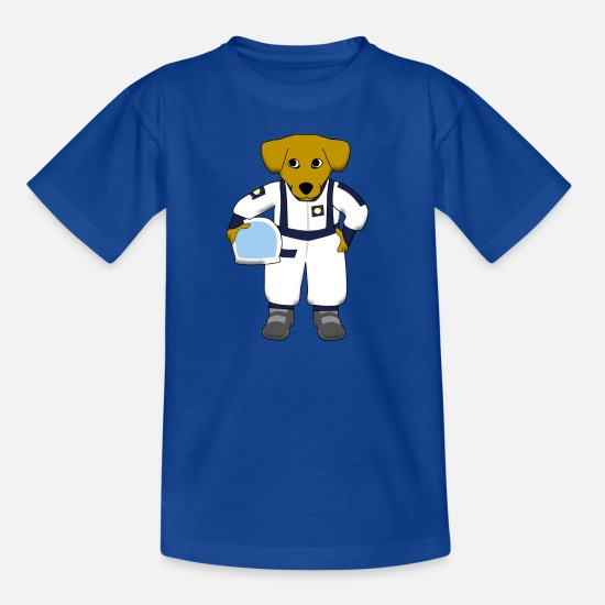 Dog T-Shirts - space dog - Kids' T-Shirt royal blue