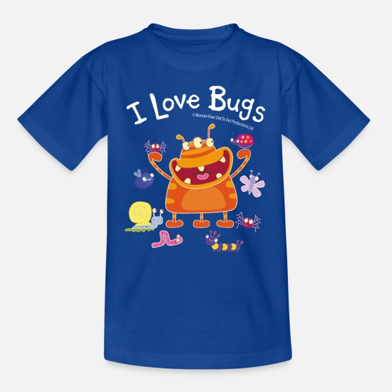 School T-Shirts - Gut gebrüllt, liebe Monster Jam Jam Bugs - Kids' T-Shirt royal blue
