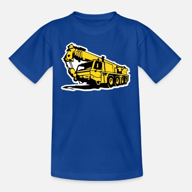 Autokran Autokran, crane (3 color) - Kinder T-Shirt