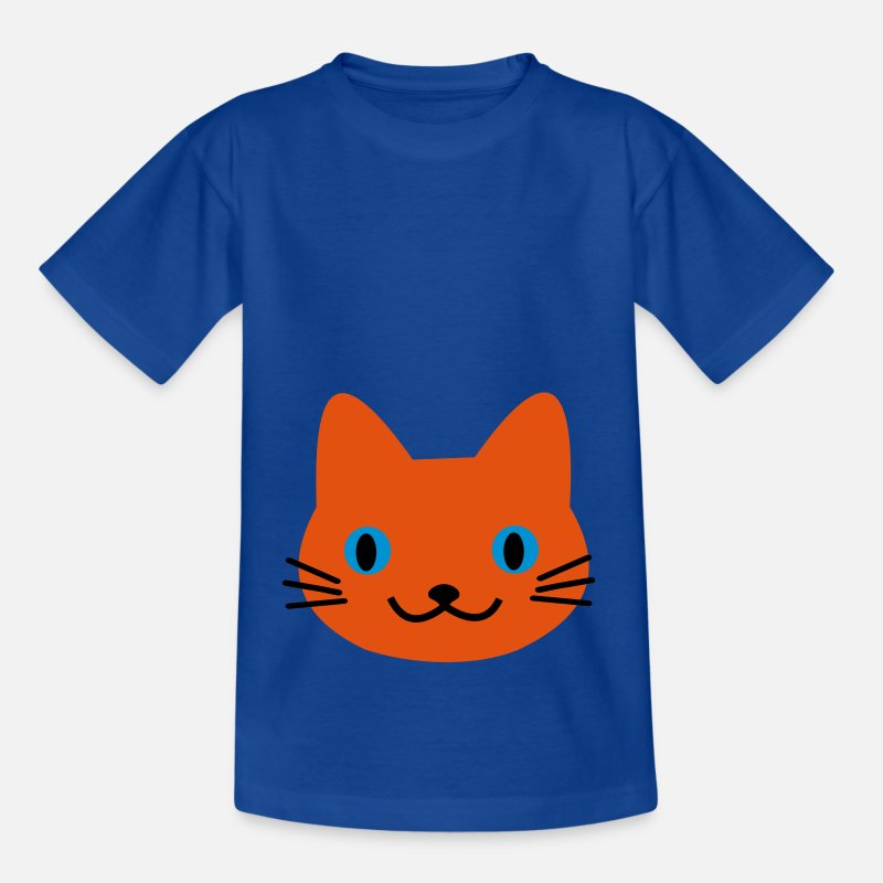 Cat Face T-Shirts - Cat cat - Kids' T-Shirt royal blue
