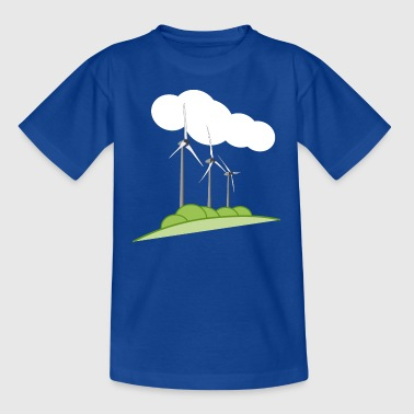 Windkraftanlage - Kinder T-Shirt