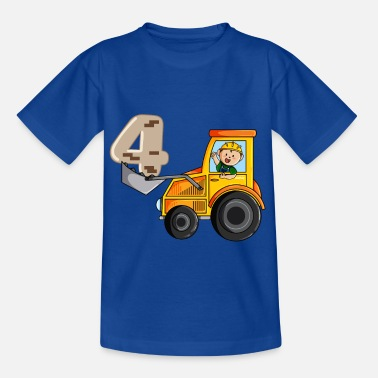 Birthday Boy Birthday 4 years excavator, builder T-shirt Four - Kids' T-Shirt