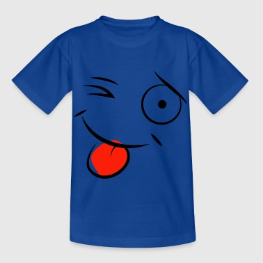 cartoon clin d'oeil qui tir la langue - T-shirt Enfant