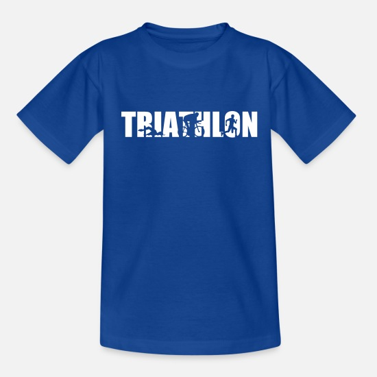 Triathlon T-Shirts - Triathlon - Kinder T-Shirt Royalblau