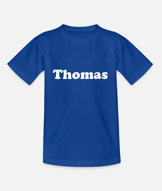Thomas T-Shirts - Thomas name first name Nickname white - Kids' T-Shirt royal blue
