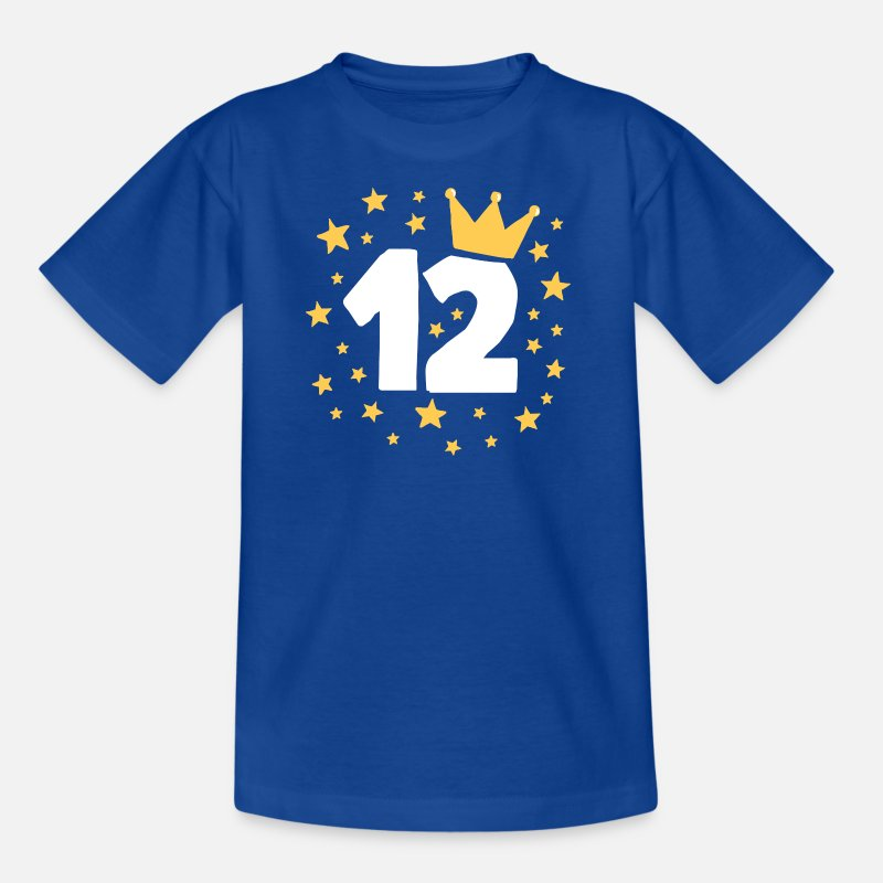 Birthday T-Shirts - Birthday boy 12 jaar Prince kroon van de Prinses - Kinderen T-shirt koningsblauw