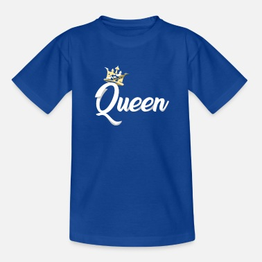 Couples Queen Crown Royal Matching Couples Designs - Kids' T-Shirt