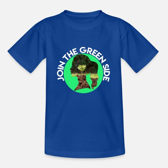 Save The World T-Shirts - JOIN THE GREEN SIDE - Kids' T-Shirt royal blue