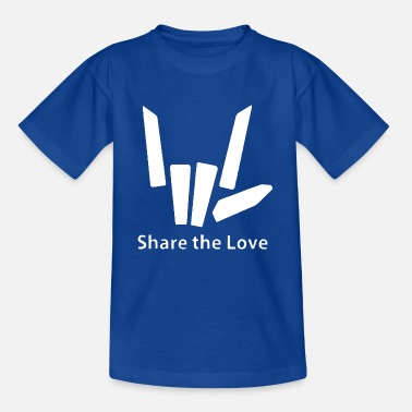 Love share the love hand sign cool funny shape - Kids' T-Shirt