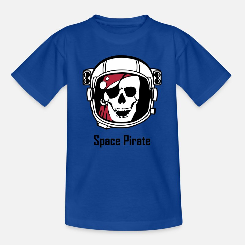 Art T-Shirts - Space Pirate (Skull in Astronaut Helmet) - Kids' T-Shirt royal blue