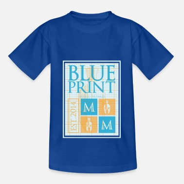 Blueprint Blueprint Blue and Yellow - Kids' T-Shirt