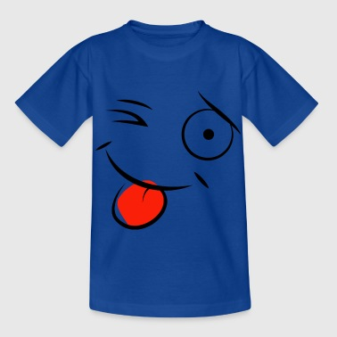 cartoon winking tongue shot - Kids' T-Shirt