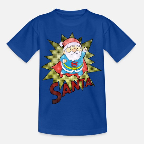 Jul T-shirts - Super Santa - T-shirt barn kungsblå