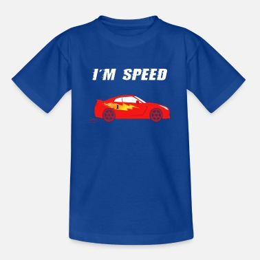 Sports Car - I'm Speed in Fire Red, for Kids - Kids' T-Shirt