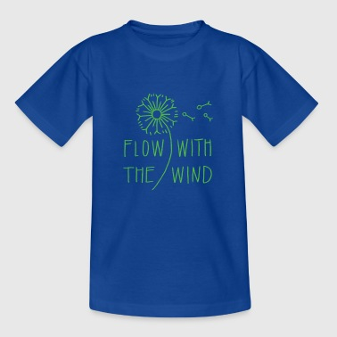 Flow With The Wind - Kinder T-Shirt