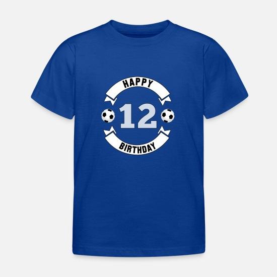 edac0a0a9 Cumpleaños Camisetas - 12 cumpleaños   12 aniversario   12 cumpleaños -  Camiseta niño azul intenso