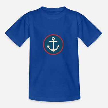 Nautical Anchor sea shell lighthouse beach lake gift - Kids' T-Shirt